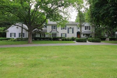 Bloomfield Twp Single Family Home For Sale: 1472 N Cranbrook Road
