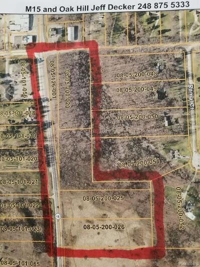 Commercial Lots & Land For Sale: 5 Prop. Id's Oak Hill Road