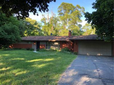 Bloomfield Twp Single Family Home For Sale: 2805 Franklin Road