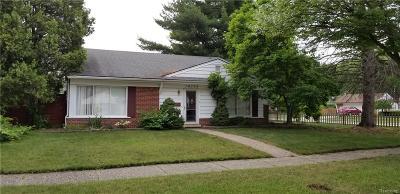 Livonia Single Family Home For Sale: 14759 Ingram Street