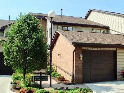 Harrison Twp Condo/Townhouse For Sale: 25570 Island View Drive S