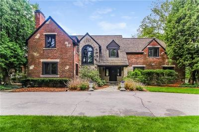 Bloomfield Hills MI Single Family Home For Sale: $1,800,000