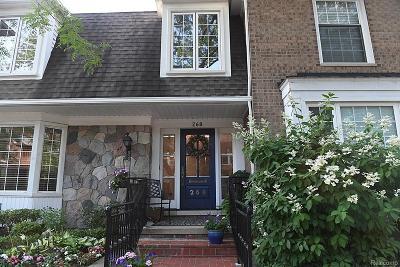 Birmingham MI Condo/Townhouse For Sale: $899,900