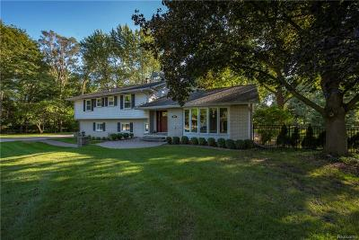 Troy Single Family Home For Sale: 3901 Chestnut Hill Court