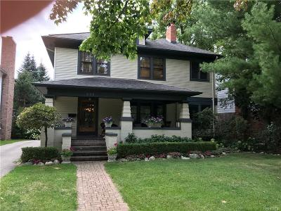 Birmingham Single Family Home For Sale: 888 Oakland Avenue