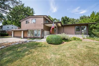 Bloomfield, Bloomfield Hills, Bloomfield Twp, West Bloomfield, West Bloomfield Twp Single Family Home For Sale: 3512 Macnichol Trail