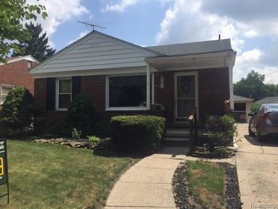 Allen Park Single Family Home For Sale: 9401 Fox