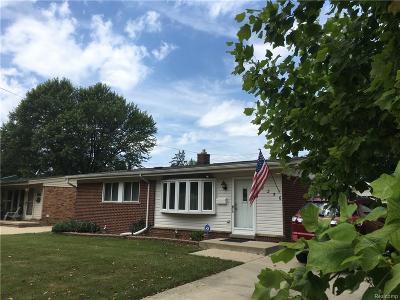 Allen Park MI Single Family Home For Sale: $159,900