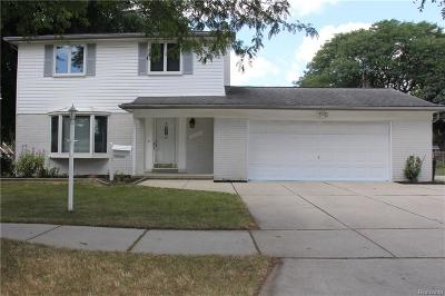 Livonia Single Family Home For Sale: 14141 Hubbell Street