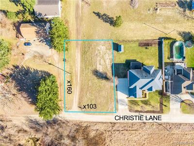 Shelby Twp Residential Lots & Land For Sale: Vl Christie Lane