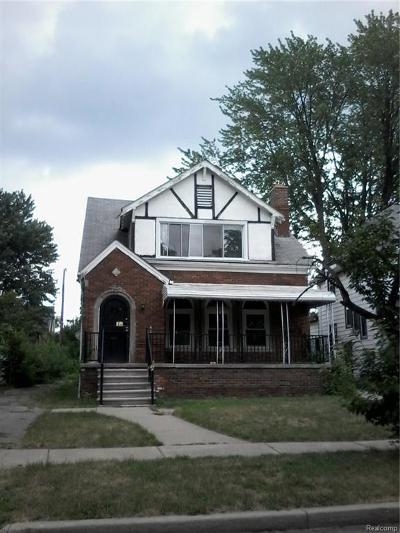 Detroit Single Family Home For Sale: 16530 Princeton Street