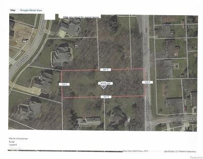 Commerce Twp Residential Lots & Land For Sale: Vac Benstein