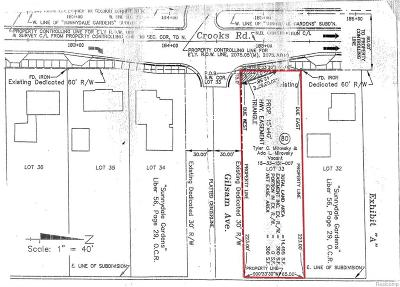 Rochester, Rochester Hills Residential Lots & Land For Sale: Crooks