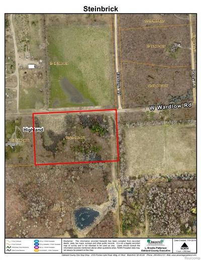 Highland Twp Residential Lots & Land For Sale: Wardlow Road