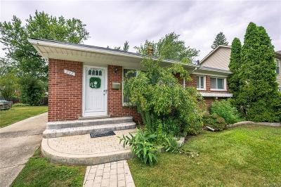 Royal Oak Single Family Home Contingent - Continue To Show: 217 Midland Boulevard
