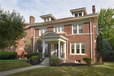 Detroit Single Family Home For Sale: 888 Chicago Boulevard