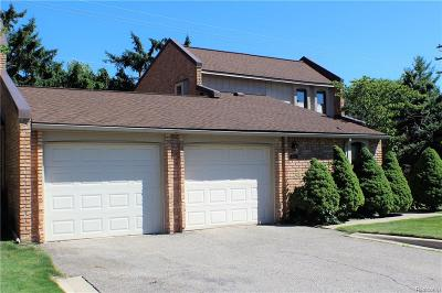 West Bloomfield Twp Condo/Townhouse For Sale: 3068 Moon Lake
