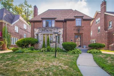 Detroit Single Family Home For Sale: 17177 Wildemere Street
