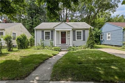 Ferndale, Royal Oak, Berkley Single Family Home For Sale: 3251 Inman Street