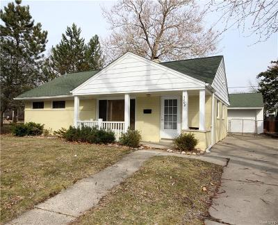 Royal Oak Single Family Home For Sale: 3008 Garden Avenue