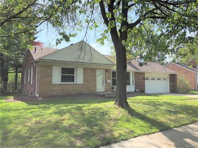 Royal Oak Single Family Home For Sale: 4008 Hillside Drive