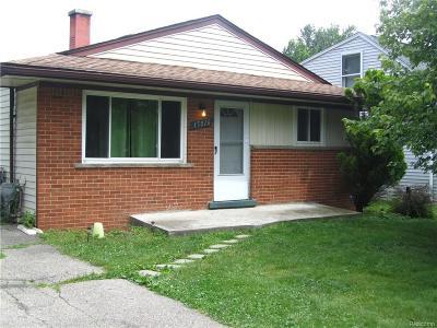 Livonia, Farmington, Farmington Hills, Northville Twp, Novi Single Family Home For Sale: 15016 Santa Anita Street