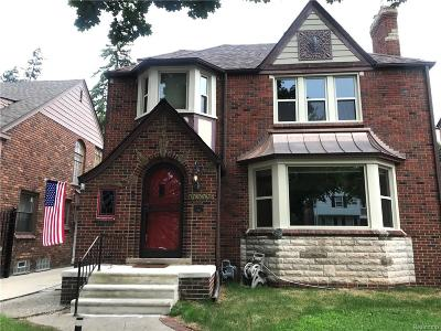 Detroit Single Family Home For Sale: 19962 Briarcliff Road