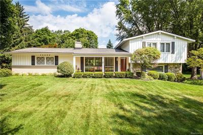 Farmington Hills Single Family Home For Sale: 36508 W Lyman Road