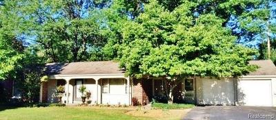 West Bloomfield, West Bloomfield Twp Single Family Home For Sale: 6650 Inkster Road