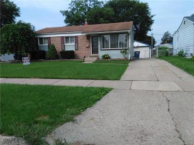 Garden City, Westland, Plymouth Twp, Canton Twp Single Family Home For Sale: 1454 Gloria Street