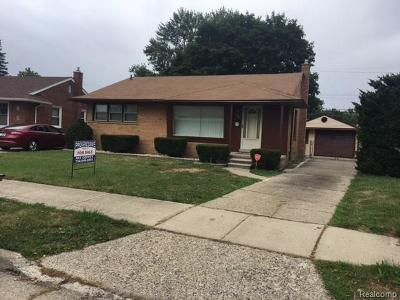 Garden City, Westland, Plymouth Twp, Canton Twp Single Family Home For Sale: 6841 Mansfield Street