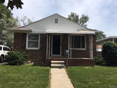 Lincoln Park Single Family Home For Sale: 3015 Wilson Avenue