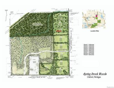 Addison Twp Residential Lots & Land For Sale: Vac 5 Lake George