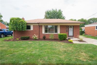 Warren Single Family Home For Sale: 13484 Lowe Drive