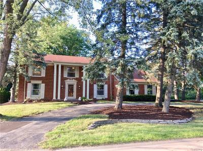 West Bloomfield Twp Single Family Home For Sale: 4216 Saddle Lane