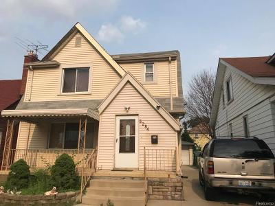 Dearborn MI Single Family Home For Sale: $159,900