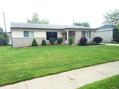 Westland MI Single Family Home For Sale: $129,999