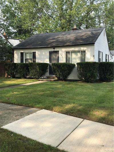 Livonia MI Single Family Home For Sale: $129,900