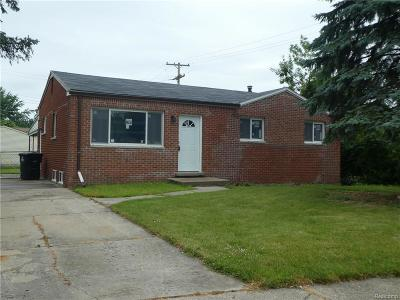 Westland MI Single Family Home For Sale: $109,900
