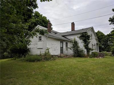 Northville Twp Single Family Home For Sale: 44711 6 Mile Road