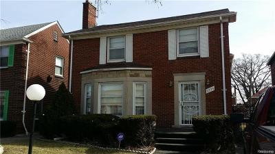 Detroit MI Single Family Home For Sale: $78,000