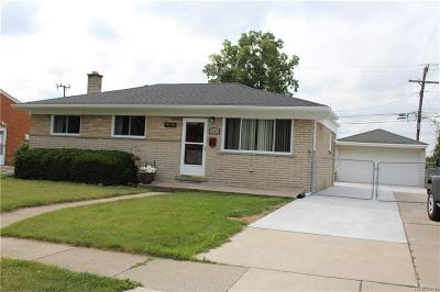 Sterling Heights MI Single Family Home For Sale: $165,000