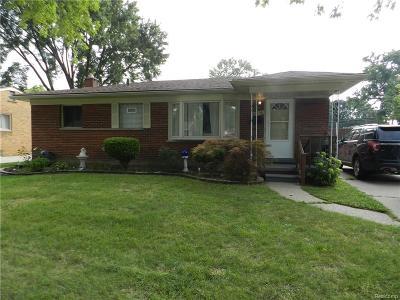 Warren, Eastpointe, Roseville, St Clair Shores Single Family Home For Sale: 22458 Hill Street