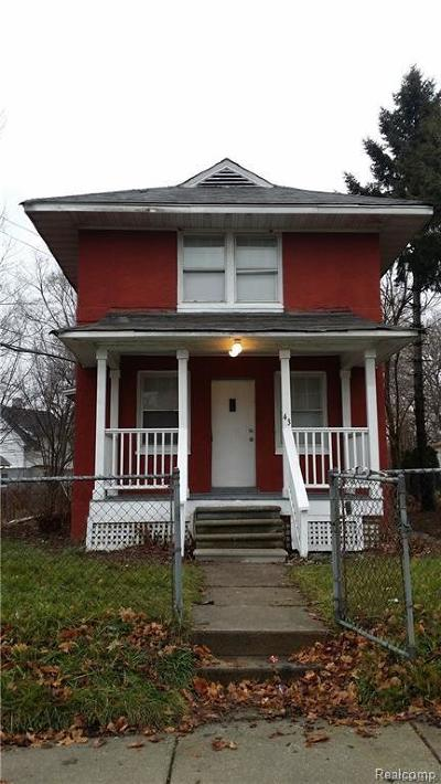 Pontiac MI Single Family Home For Sale: $48,000