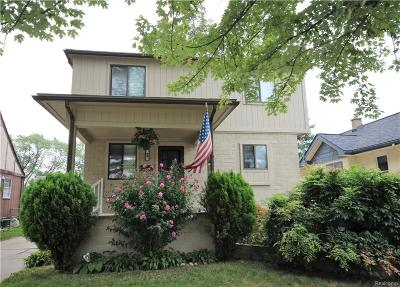 Clawson Single Family Home For Sale: 69 W Tacoma Street
