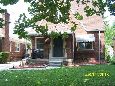 Detroit Single Family Home For Sale: 15495 Edmore Drive