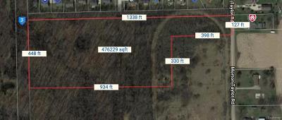 Belleville, Belleville-vanbure, Bellleville, Van Buren, Van Buren Twp, Van Buren Twp., Vanburen Residential Lots & Land For Sale: Morton Taylor Road
