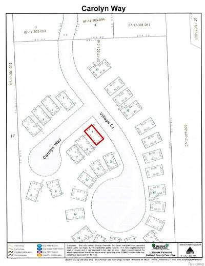 Macomb County, Oakland County, Wayne County Residential Lots & Land For Sale: 12755 Carolyn Way