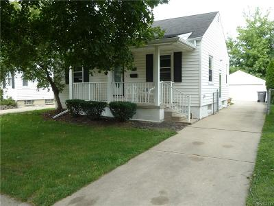 Dearborn MI Single Family Home For Sale: $114,900