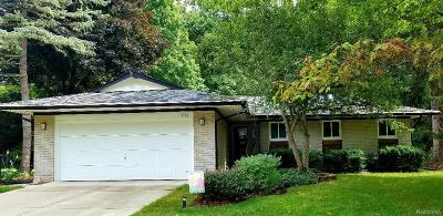 Ann Arbor Single Family Home For Sale: 3732 Middleton Drive